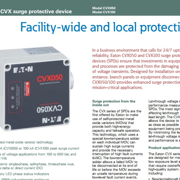 CVX: Surge Protection facility wide