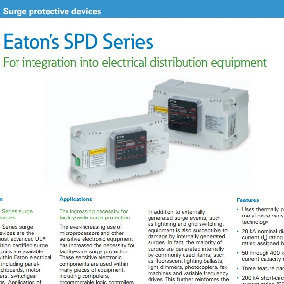 SPD Series Surge Protection