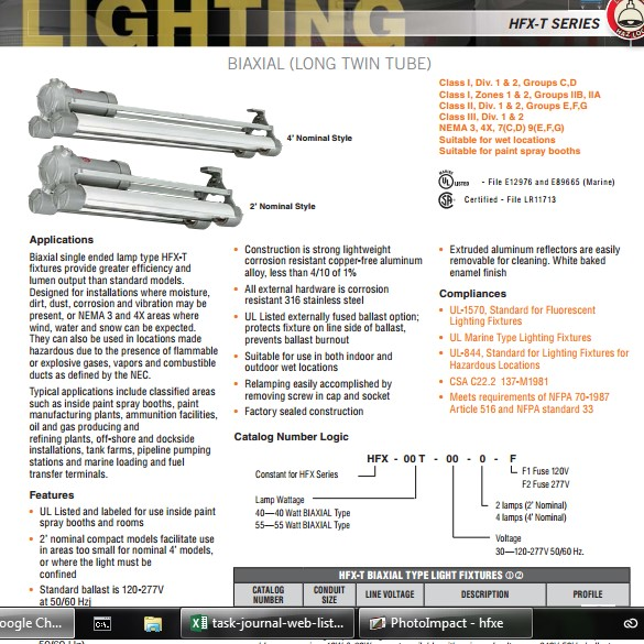 HFX-T Series Biaxial Long Twin Tube Lamps