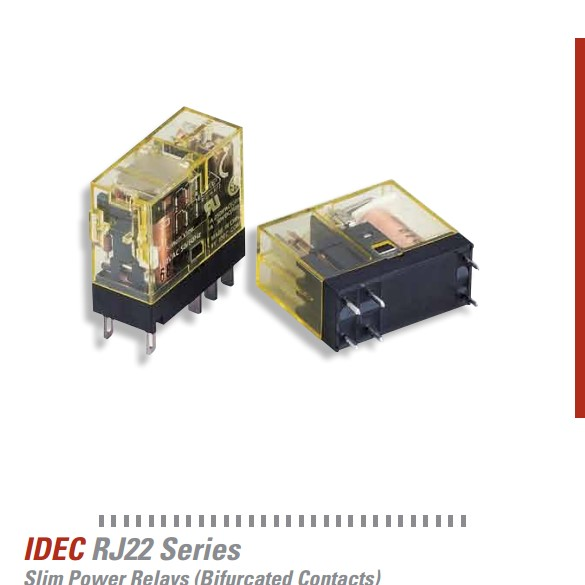 RJ22 Series Slim Power Relays - Bifurcated Contacts