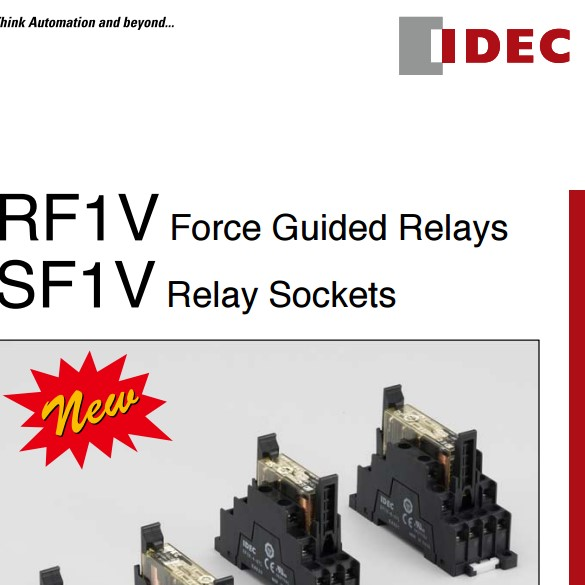 RF1V Force Guided Relays and SF1V Relay Sockets