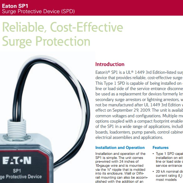 SP1: Type 1 Surge Protection