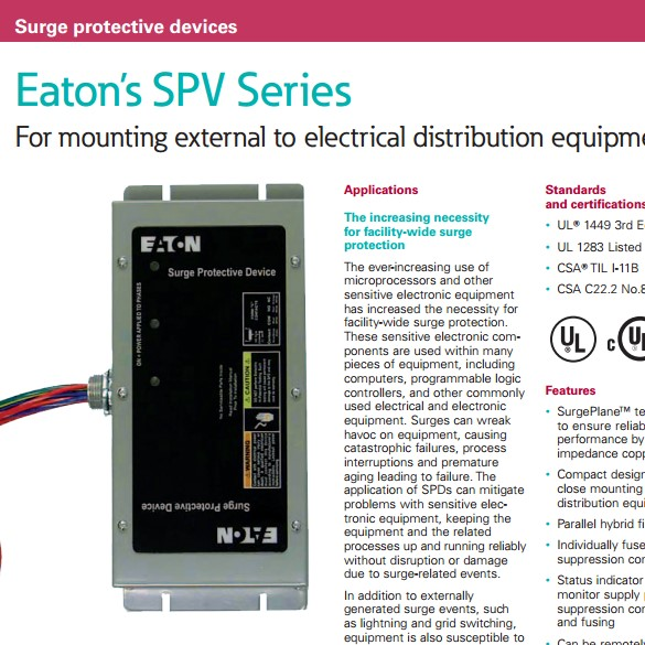 SPV: Surge Protection with Sidemount