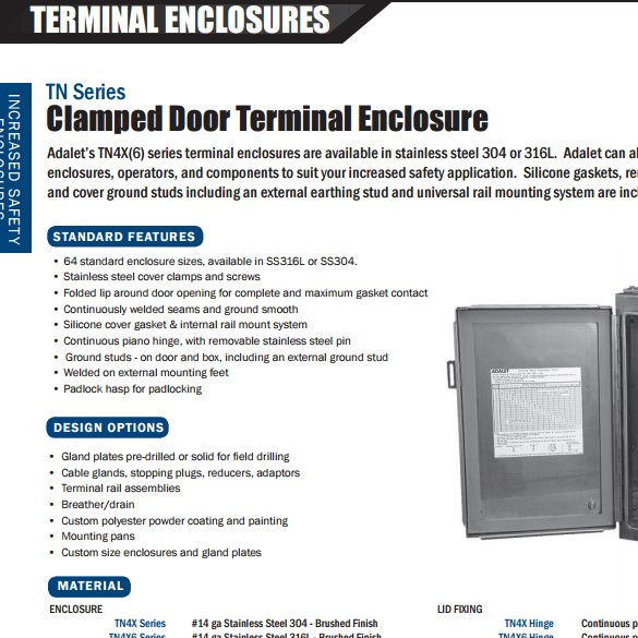 TN Series Increased Safety Terminal Enclosures